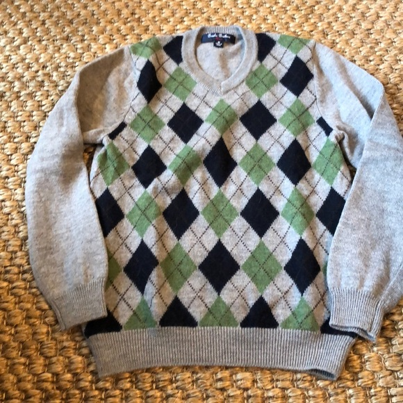 Boys Brooks Brothers grey Argyle sweater